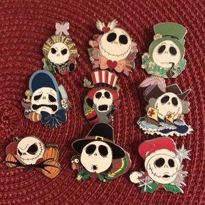 Disney Jack Skellington Pins